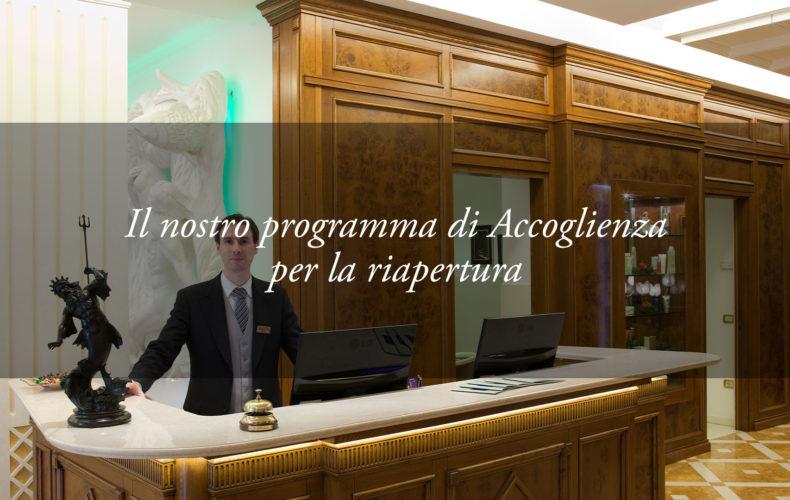 accoglienza reception hotel tritone