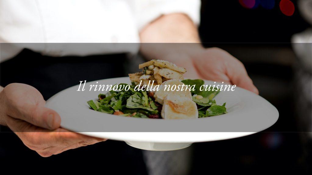 Una nuova regia per spettacolari pietanze: si rinnova la cuisine dell'Hotel Tritone