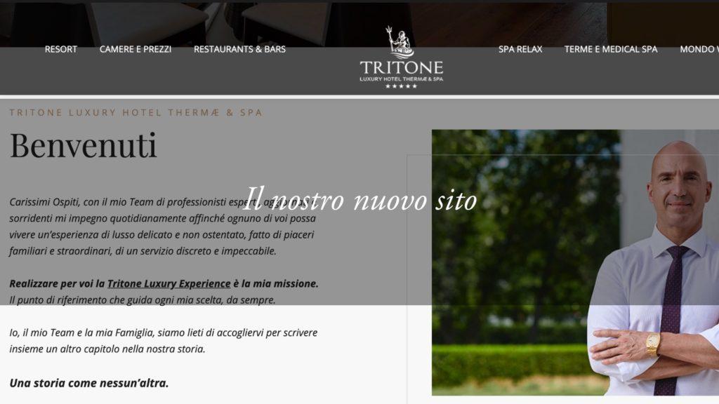 Il nuovo sito dell'Hotel Tritone: il principio di nuove esperienze speciali